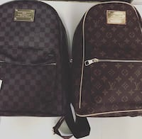 brown Louis Vuitton leather backpack Gatineau, J9J