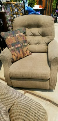 brown and gray fabric sofa chair Perris, 92570