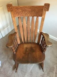 Large Solid Wood Rocking Chair w/ intricate design San Diego, 92117