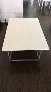 Rectangular white mother of pearl finish coffee table Loch Arbour, 07711