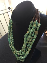 Beautiful Vintage Turquoise 5-Strand Necklace. Acquired in the 70's in Arizona. Well made Denver, 80231