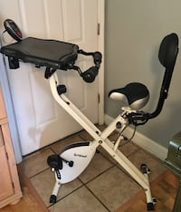 FitDesk! It's a desk and exercise bike all in one! Barely used!
