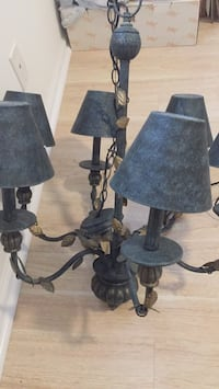 two black metal base table lamps Delray Beach, 33446