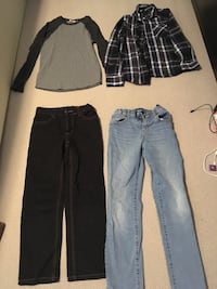 Boys size 10-12 clothes.  Tops are like new and pants in good condition  Surrey, V4N 0C3