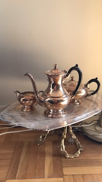 brass-colored tea set Toronto, M6C 2J9
