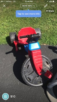 toddler's red, black, and blue trike screenshot