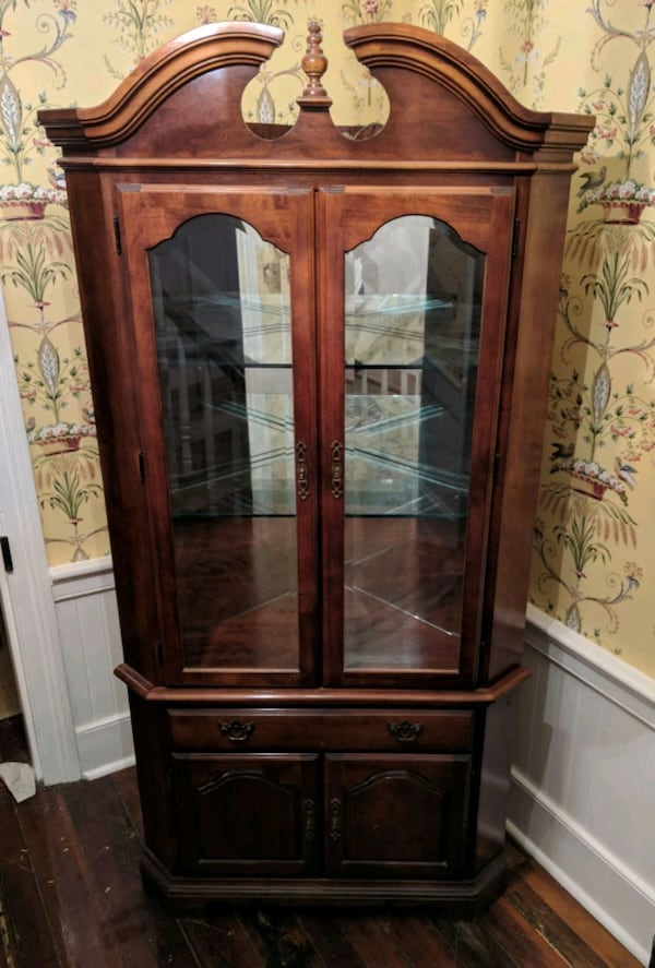 Used Corner China Cabinet Solid