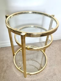 Glass & Gold End Table