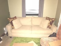 Tan velour sofa in good condition.  Clearwater, 33760