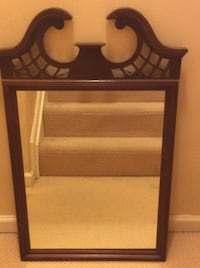 brown wooden framed wall mirror ROCKVILLE