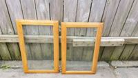 two brown wooden framed glass windows Marrero, 70072