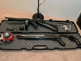 Airsoft guns with case