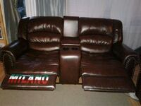 brown leather home theater sofa 3 pc set Surrey, V4N 2R6