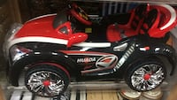 red and black ride-on toy car Toronto, M9W 6K5