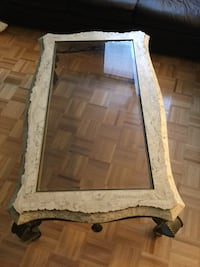 Marble/brass/glass coffee table Vaudreuil-Dorion, J7V 8B2