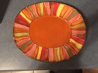 Pier one candle plate. Fall colors Brielle, 08730