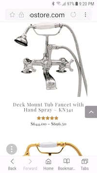 Tub faucet with hand spray Barrie, L4M 1L1