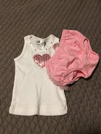 Infant Baby Girl Outfits (2) Size 3-6 Months  Whitehall