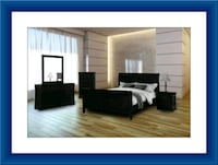 11pc black bedroom set free delivery Pikesville, 21208
