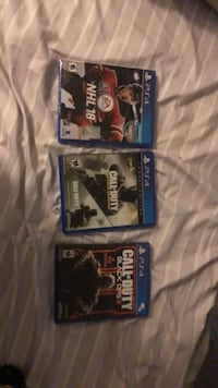 three Sony PS4 game cases Zorra, N0M 2M0
