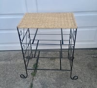 LARGE METAL AND WICKER STAND  Newport, 41071
