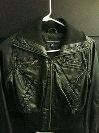 black leather zip-up jacket Whittier, 90602