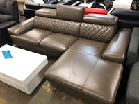 Leather Air Sectional Sofa Edmonton, T6E 0K9