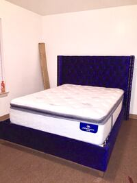 Only $50 Down or $1200 Total on our Beautiful Blue Crush Velvet Bedsets w/ FREE LOCAL DELIVERY & ASSEMBLY! 138 mi