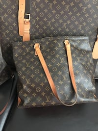 black and brown Louis Vuitton leather tote bag Toronto, M2N 7K2