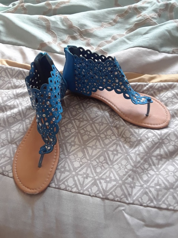 d8c8c9b25 Used Blue jeweled sandals size-11 for sale in Dallas - letgo