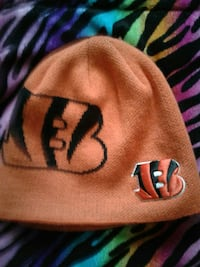 orange Cincinnati Bengals knit cap