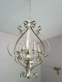 stainless steel framed uplight chandelier Whitchurch-Stouffville, L4A 0M6