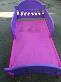 Pink and Purple Toddler Bed Council Bluffs, 51501