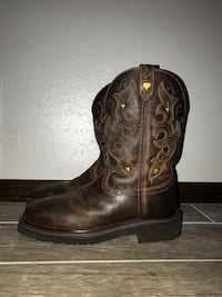 Justin women's composite toe work boots size 8.5