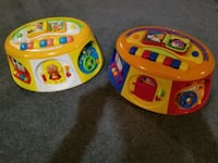 two orange and yellow learning musical toys Stouffville, L4A