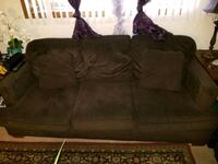 brown suede 3-seat sofa Brooklyn Park, 55429