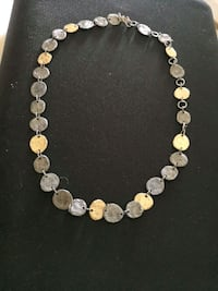 Metal necklace w/ gold&silver plated  Arlington, 22201