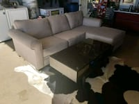 gray fabric sectional sofa and ottoman Simi Valley, 93063