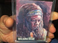 Michone walking dead sketch card Canby, 97013