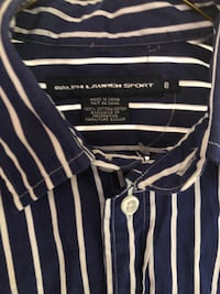 black and white stripe polo shirt Decatur, 62521