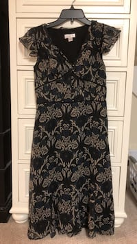 women's black and white floral sleeveless dress 32 km