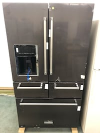 New scratch & dent 36x70 Black stainless steel KitchenAid 4 doors refrigerator it has never been used 5 months warranty  Baltimore, 21222