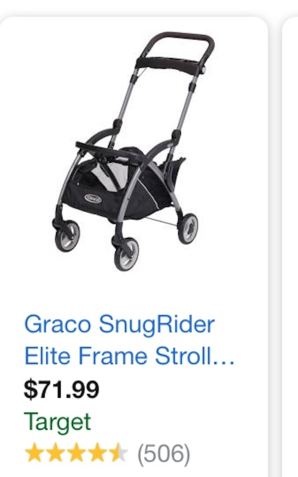 Used Graco frame stroller, holds Graco car seat for sale in San ...