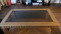 brown wooden 2-layer table Arlington, 22204