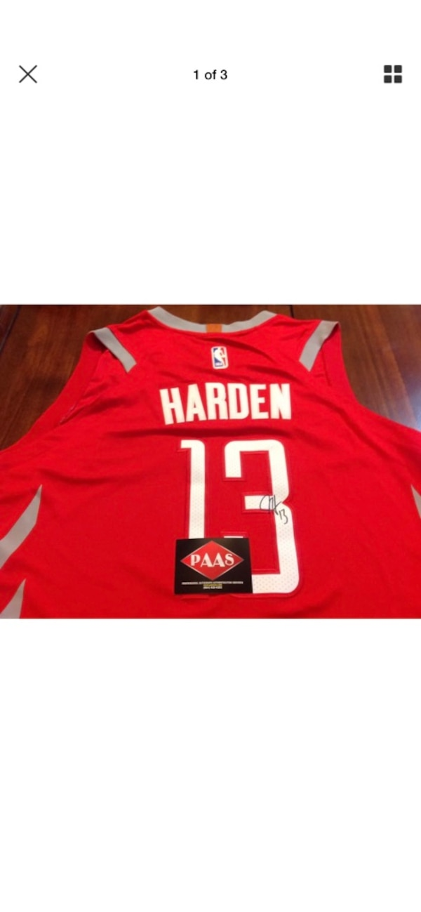 outlet store ead4c 47274 James Harden Auto Jersey with COA