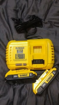 DeWalt 20v Max Lithium 2-2Ah batteries & charger