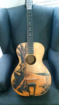 Early 40's Harmony Cowboy guitar.