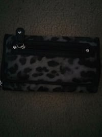 black and white leopard print wristlet Lincoln, 95648