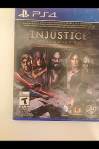 Injustice Gods Among Us PS4 game case