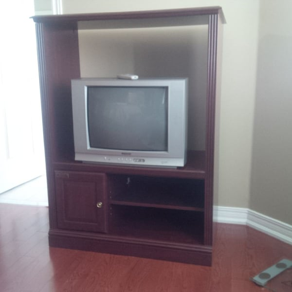 TV Stand and TV included